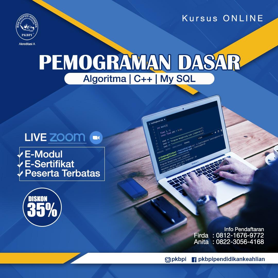 Kursus Komputer Surabaya - Kursus Online Pemograman Dasar PKBPI