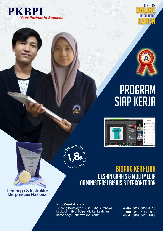 Program 1 Tahun Siap Kerja - Kursus Komputer Online Surabaya