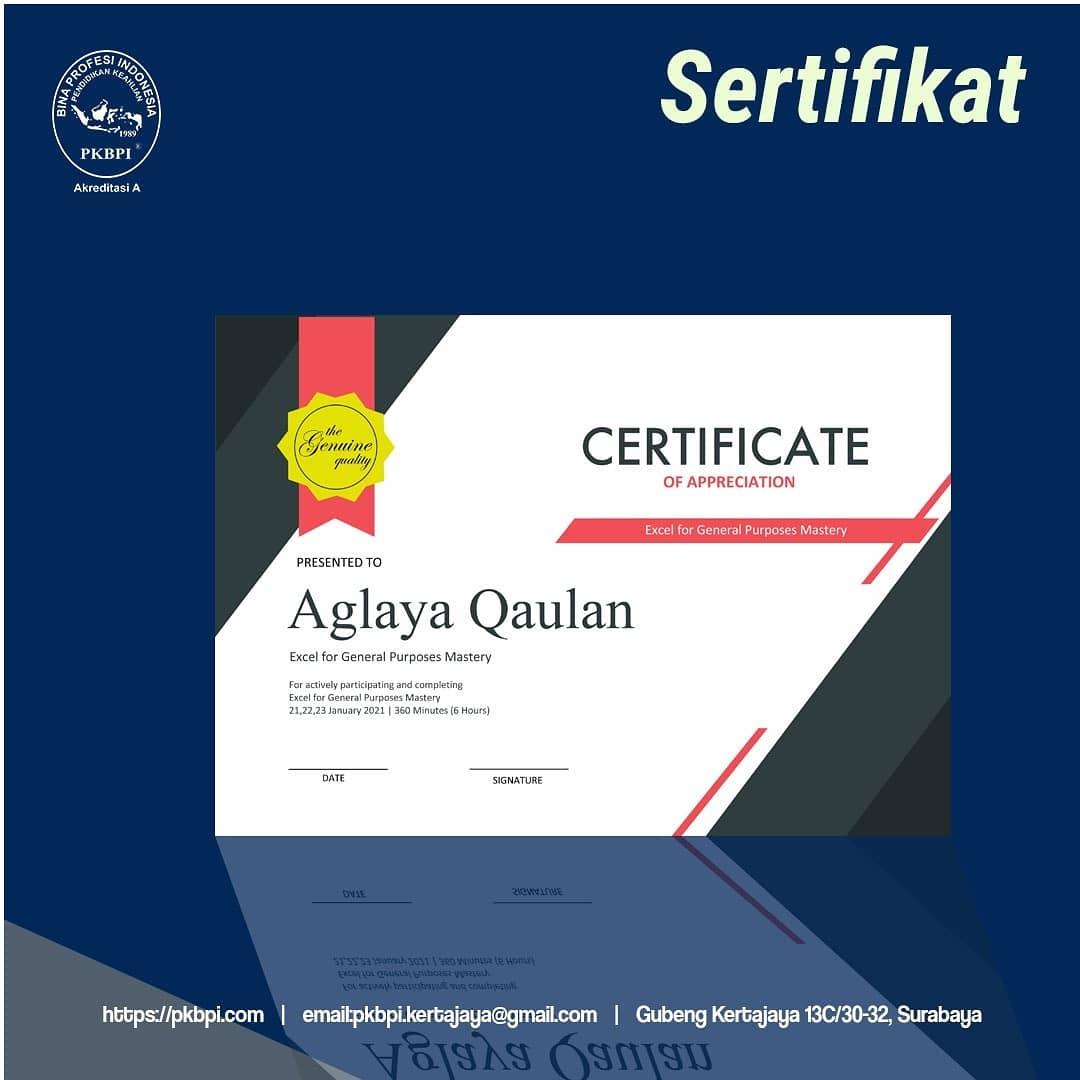 Kursus Komputer Online Surabaya - Ms. Word - Desain Sertifikat menarik - Aplikasi Perkantoran