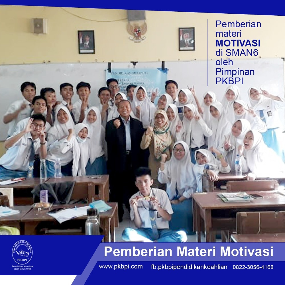 Pemberian Motivasi Siswa SMA Negeri 6 Sby Oleh Direktur PKBPI