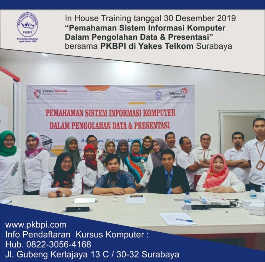 Kursus Komputer Surabaya - In House Training PKBPI
