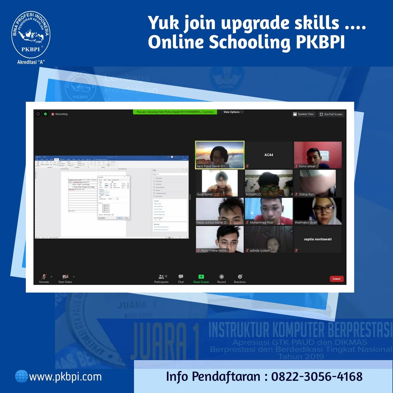 Kelas Online PKBPI - pembelajaran dengan aplikasi Zoom