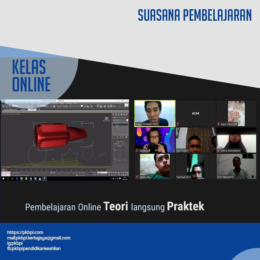 Kursus Komputer Surabaya - Suasana Pembelajaran kursus online PKBPI (Pendidikan keahlian Bina Profesi Indonesia)
